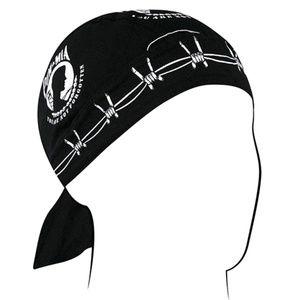 POW Black Bandanna Du-Rag HEADWRAP